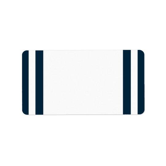 Etikett för adress för finalmarinrand adressetikett