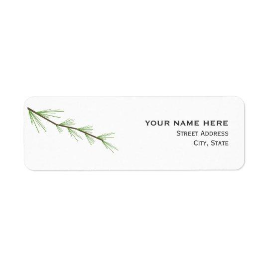 Etikett för adress för gräslövruskabröllop returadress etikett