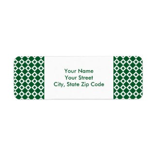 Etikett för adress för grönt- och returadress etikett