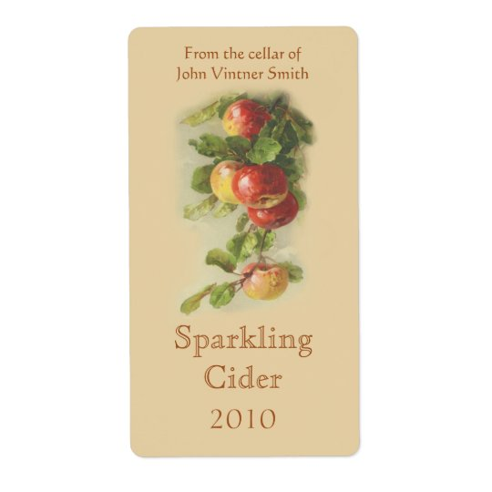 Etikett för Apple vinflaska Fraktsedel