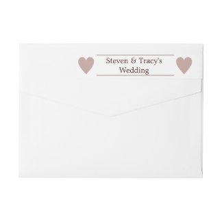 Etikett för automatiskt linjeskift för bröllop för
