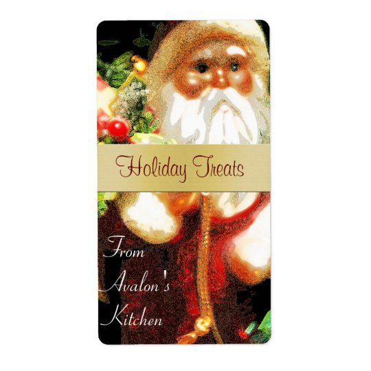 Etikett för bakning för fest för julSanta kök Fraktsedel