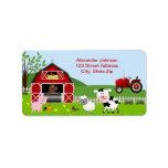 Etikett för Barnyardboskapadress Adressetikett