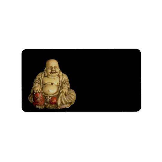 Etikett för Buddha statyadress Adressetikett