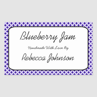 Etikett för burk för text för blåbärsylt beställni retangel klistermärke