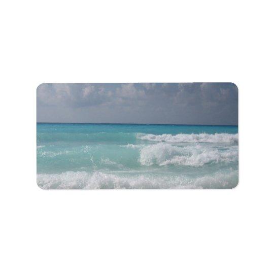 Etikett för Cancun vågaradress Adressetikett