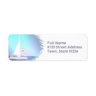 Etikett för Catamaranseglingreturadress Returadress Etikett