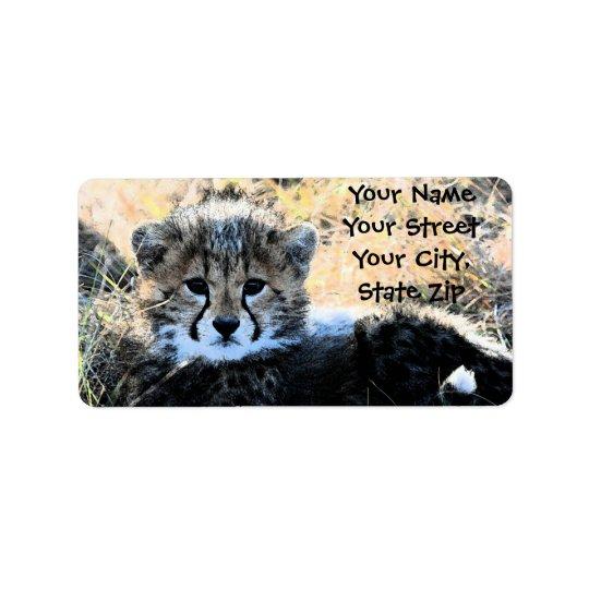 Etikett för Cheetahungeadress Adressetikett