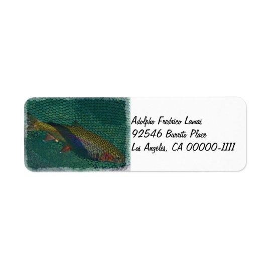 Etikett för Fall River regnbågeadress Returadress Etikett