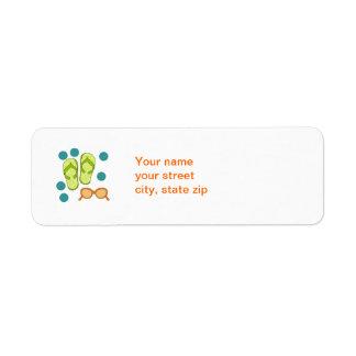 Etikett för Flipflopsolglasögonadress Returadress Etikett