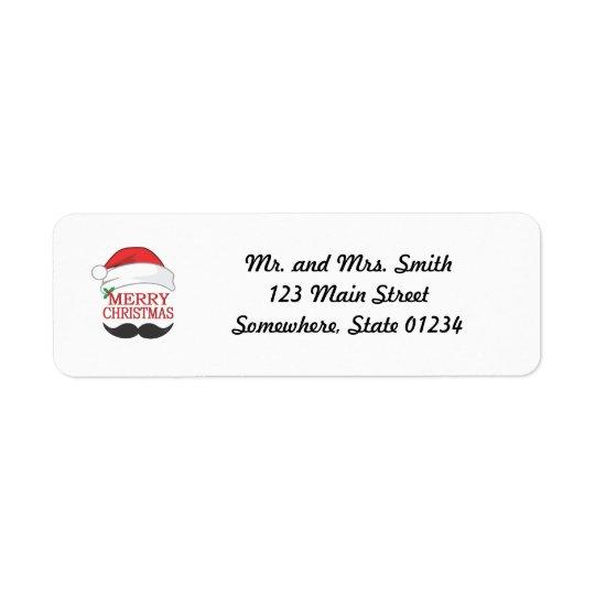 Etikett för god julmustaschretur returadress etikett
