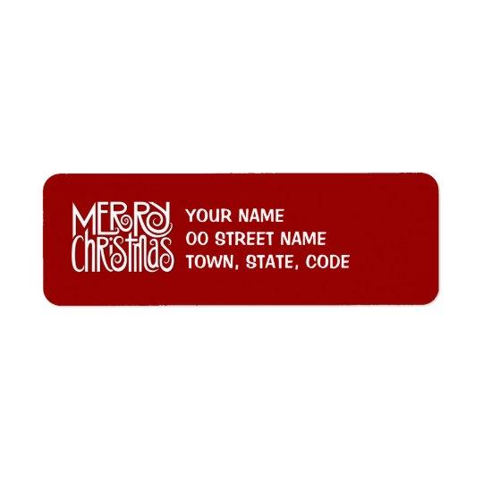 Etikett för god julvitreturadress returadress etikett