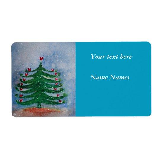 Etikett för helgdag för nytt år för god jul fraktsedel