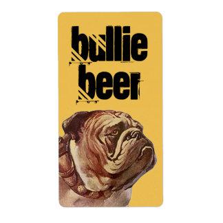 Etikett för hund för tjur för brygd för hem för fraktsedel