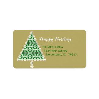Etikett för julgranjulreturadress adressetikett
