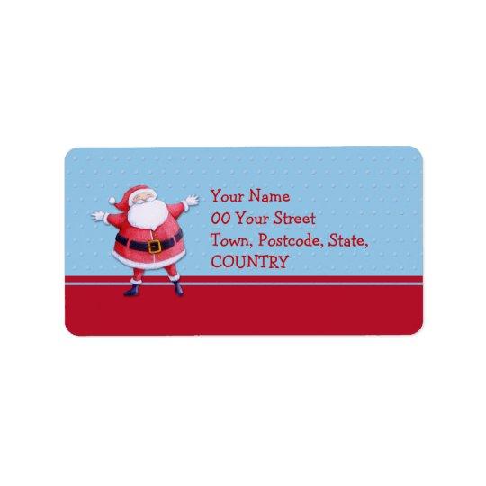 Etikett för jultomtenblåttadress adressetikett