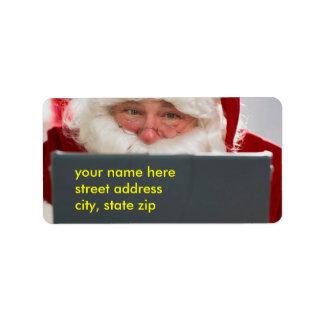 Etikett för jultomtenjuladress adressetikett