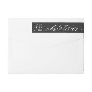 Etikett för kuvert för anpassadeCalligraphyjul