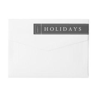 Etikett för kuvert för jul för anpassadegrå färg