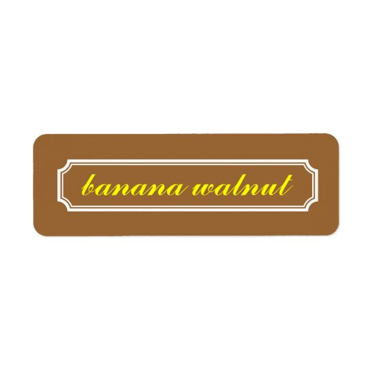 Etikett för Mansardgränsanstrykning, bananvalnöt Returadress Etikett