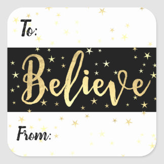 Etikett för märkre för gåva för tro guld-