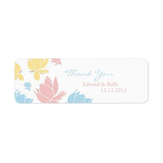 Etikett för märkre för gåva för Waterlilly Returadress Etikett