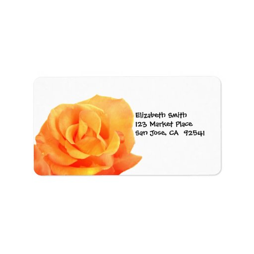 Etikett för orangeroadress adressetikett