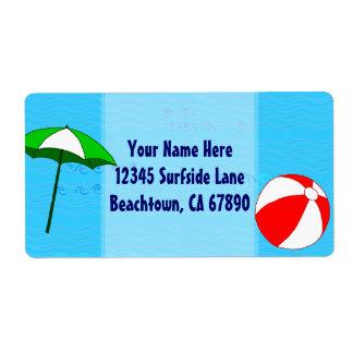 Etikett för paraply för strandbollbassäng fraktsedel