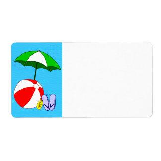 Etikett för paraply för strandbollbassäng tom stor fraktsedel