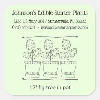 Etikett för produkt för växt- och