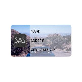 Etikett för returadress för bil för adressetikett