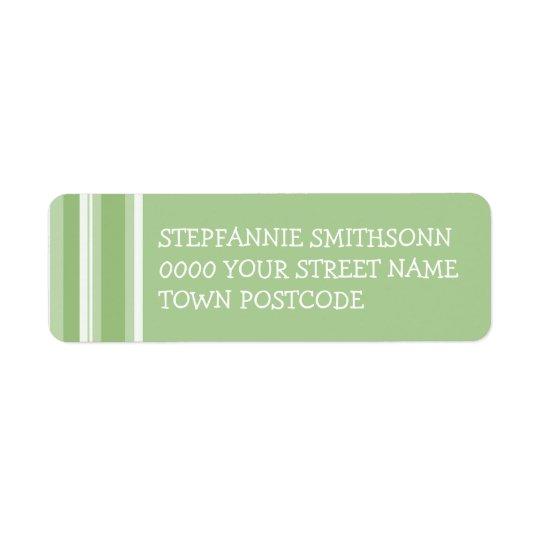 Etikett för returadress för nedgångTangorandar Returadress Etikett