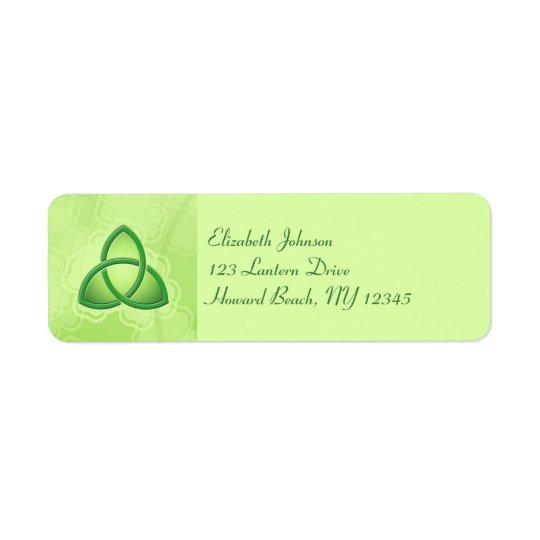 Etikett för returadress för smaragdkärlekfnurra returadress etikett
