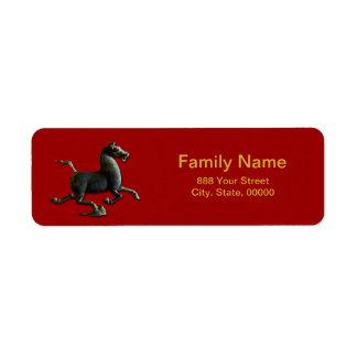 Etikett för returadress för Zodiac för hästår Returadress Etikett