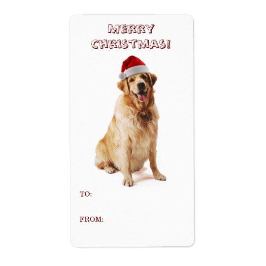 Etikett för Santa hundgåva Fraktsedel