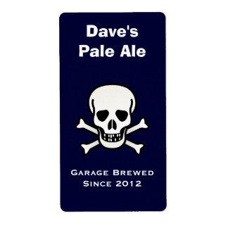 Etikett för skalle och mini- för öl för korben fraktsedel