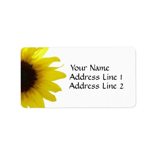 Etikett för solrosAvery adress Adressetikett