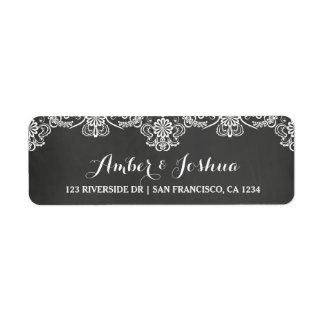 Etikett för svart tavla- & returadress etikett