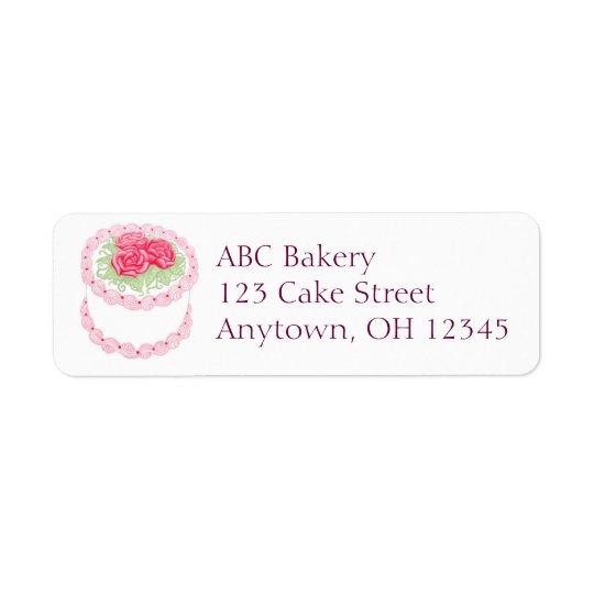 Etikett för tårta för sötro frostad returadress etikett