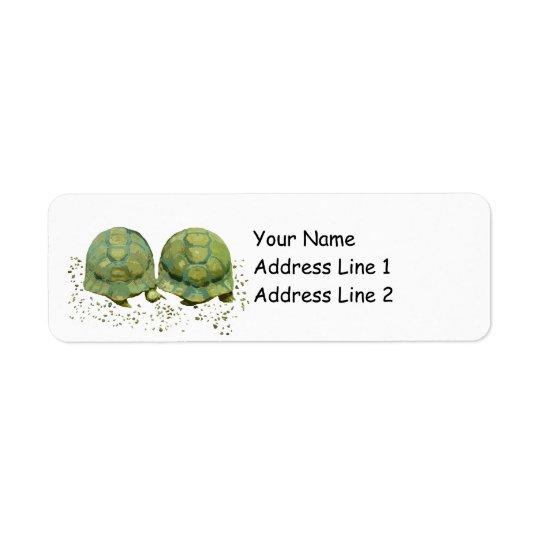 Etikett för tecknadsköldpaddaAvery returadress Returadress Etikett
