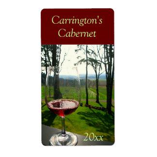 Etikett för vin för vinexponeringsglas fraktsedel