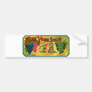 Etikett för vintage för New York statlig druvaanno Bildekal