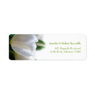 Etikett för vitbröllopadress returadress etikett