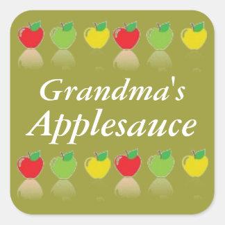 Etikett på burk för känd Applesauce för personlig Fyrkantigt Klistermärke
