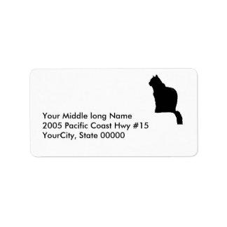 etikett - retur - svart katt adressetikett