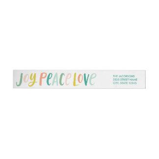 Etiketter för automatiskt linjeskift för kärlek band för returadressetiketter