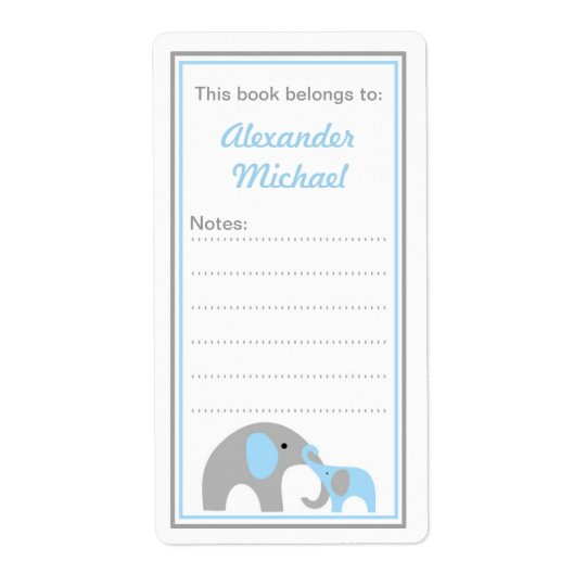 Etiketter för bok för mor- och babyelefantbokägarm fraktsedel