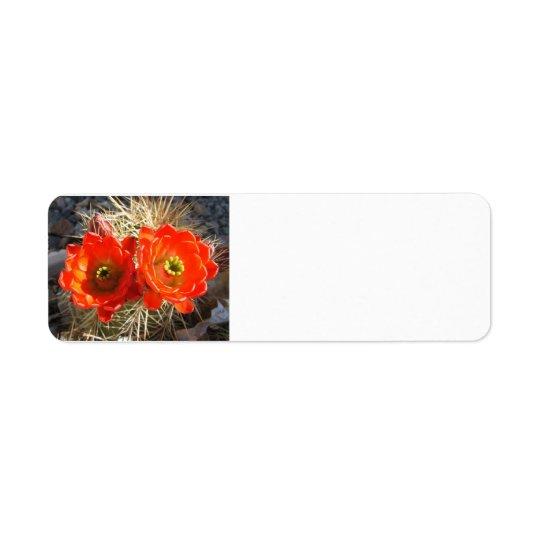 Etiketter för Cacus blommarretur Returadress Etikett