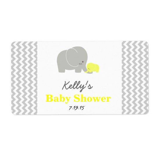 Etiketter för favör för elefantbaby fraktsedel