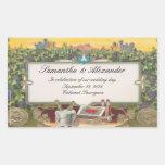 Etiketter för flaska för vin för rektangulärt klistermärke